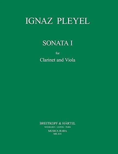 9780004486857: MUSICA RARA PLEYEL IGNAZ - SONATA NR. 1 BEN 5491 - CLARINET, VIOLA Classical sheets Mixed ensemble