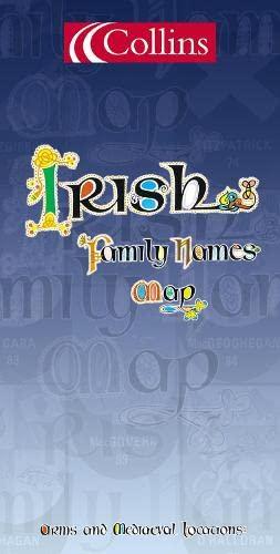 9780004486864: Irish Family Names Map (Collins British Isles and Ireland Maps)