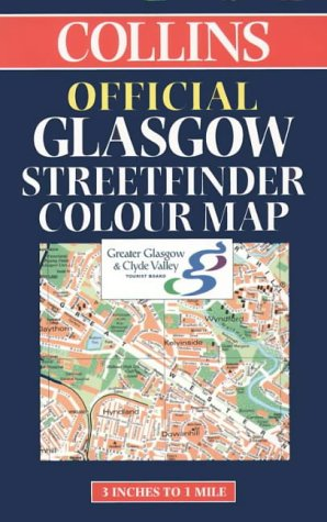 9780004487212: Official Glasgow Streetfinder Colour Map (Collins British Isles and Ireland Maps)