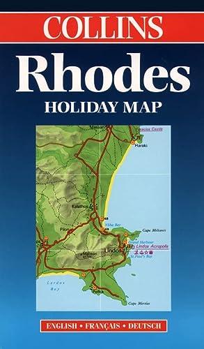 9780004487441: Collins Rhodes Holiday Map: English, Francais, Deutsch (Bartholomew Holiday Maps) (Collins Holiday Maps)