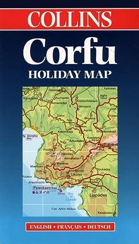 9780004487496: Corfu (Collins Holiday Maps)