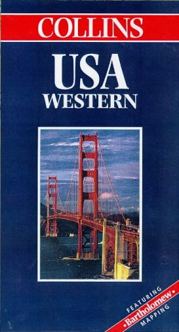 9780004487618: USA Western (World Travel Map) (Collins World Travel Map S.)