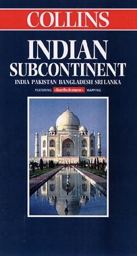 9780004487649: World Travel Map - Indian Subcontinent: India, Pakistan, Bangladesh, Sri Lanka (Collins World Travel Map)