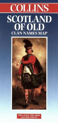 9780004487755: Scotland of Old Clan Names Map (Collins British Isles and Ireland Maps)