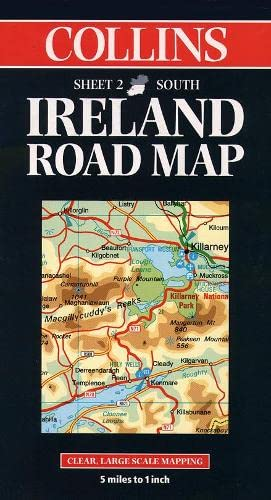 9780004487786: Collins Ireland Road Map: Clear Large-Scale Mapping; 5 [Sic] Miles to 1 Inch