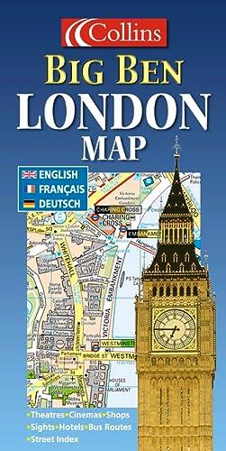 Big Ben London Map: Collins Publishers