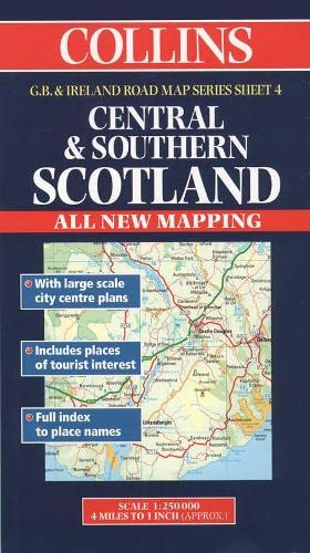 9780004488226: Central and Southern Scotland (Collins Great Britain & Ireland Road Map)