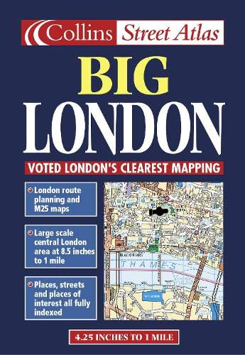 9780004488349: London Big Street Atlas Collins