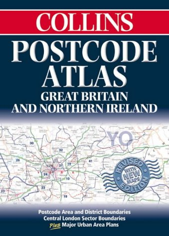 9780004488363: Postcode Atlas of Great Britain and Northern Ireland: Postcode Areas and District Boundaries Plus Central London Sector Boundaries