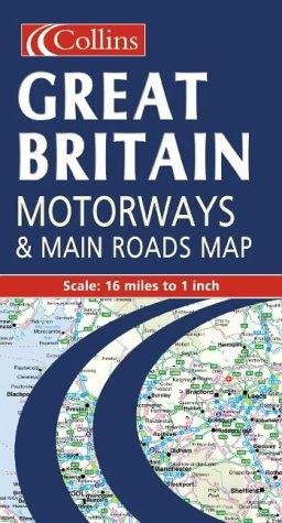 9780004488448: Motorways and Main Roads Map Great Britain (Road Map)