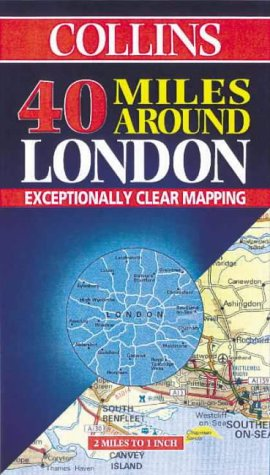 9780004488516: 40 Miles Around London (Road Map)