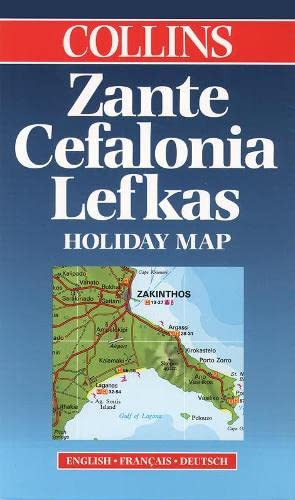 9780004488776: Zante, Cefalonia, Lefkas (Collins Holiday Map)
