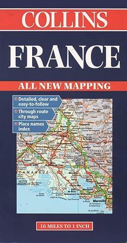 9780004489056: Collins France Road Map (Collins European Road Maps)