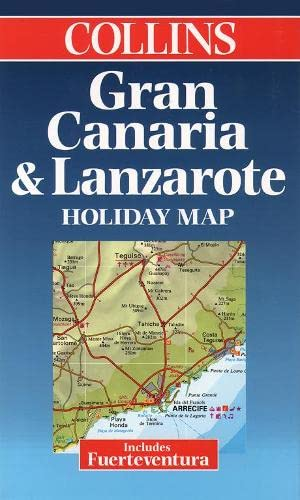 9780004489261: Holiday Map - Gran Canaria, Lanzarote and Fuerteventura (Collins Holiday Map)