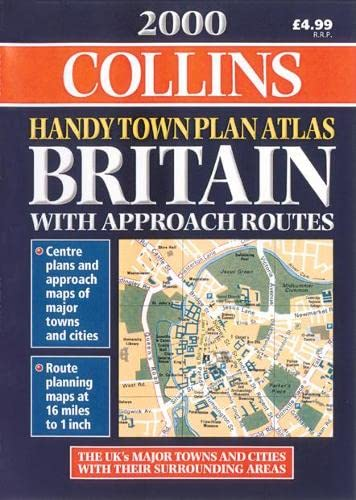 9780004489766: Handy Town Plan Atlas Britain 2000: With Approach Routes