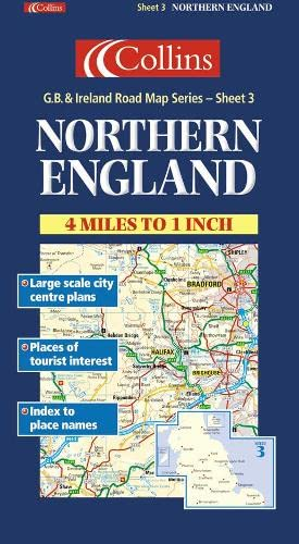 9780004489810: Great Britain: England, Northern (Collins British Isles and Ireland Maps)