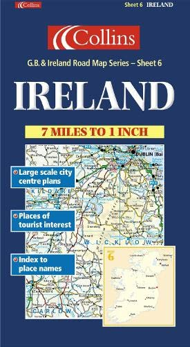 9780004489841: Road Map Great Britain and Ireland: Sheet 6 - Ireland (Collins British Isles and Ireland Maps)