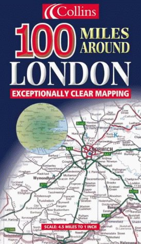 9780004489872: 100 Miles Around London (Road Map)