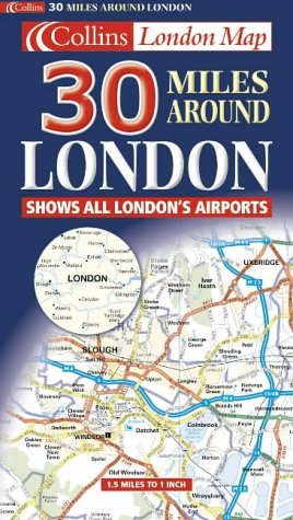9780004489964: 30 Miles Around London (Road Map)