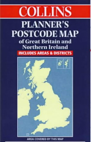 9780004490083: Collins Planner's Postcode Map of Great Britain and Northern Ireland
