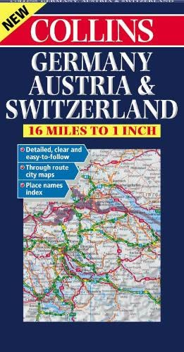9780004490427: Germany, Austria and Switzerland Road Map