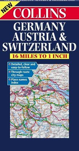 9780004490427: Germany, Austria and Switzerland Road Map