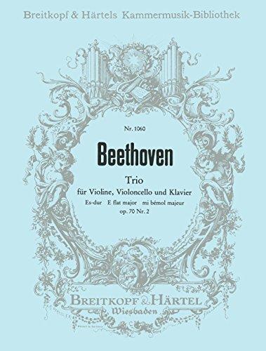 9780004500263: EDITION BREITKOPF BEETHOVEN LUDWIG VAN - KLAVIERTRIO ES-DUR OP. 70/2 - VIOLIN, CELLO, PIANO Partition classique Ensemble et orchestre Ensemble mixte