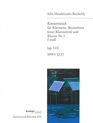 9780004501635: EDITION BREITKOPF MENDELSSOHN BARTHOLDY F. - KONZERTSTUCK 1 F-MOLL OP. 113 Classical sheets Chamber music
