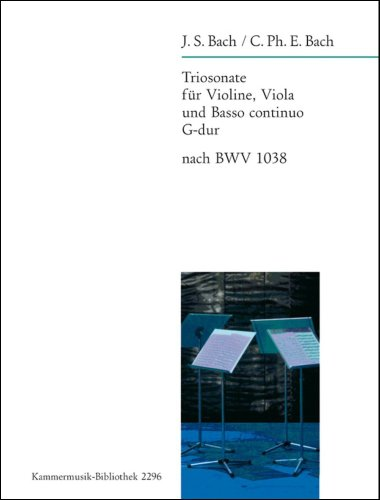 9780004502892: EDITION BREITKOPF BACH J.S. - TRIOSONATE G-DUR NACH BWV 1038 - VIOLIN, VIOLA AND BASSO CONTINUO Classical sheets Full score