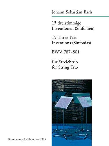 9780004502908: 15 dreistimmige Inventionen BWV 787-801 (Str-Trio)