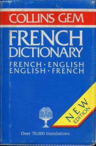 9780004585390: French-English, English-French Dictionary (Gem Dictionaries)