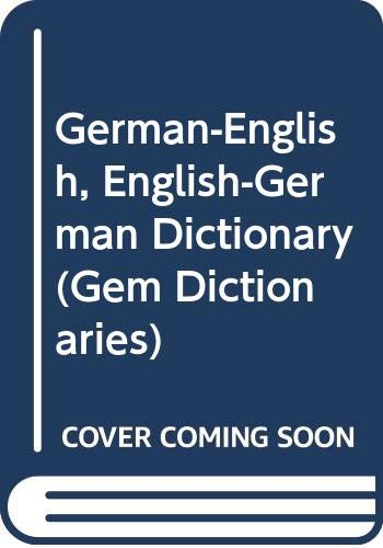 9780004586137: Collins gem dictionary, German-English, English-German