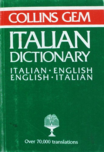 9780004586298: Collins Gem Italian English English Ital (Gem Dictionaries)