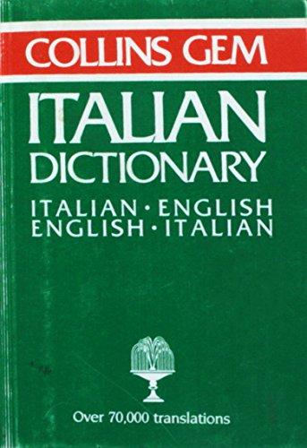 9780004586298: Italian-English, English-Italian Dictionary (Gem Dictionaries)