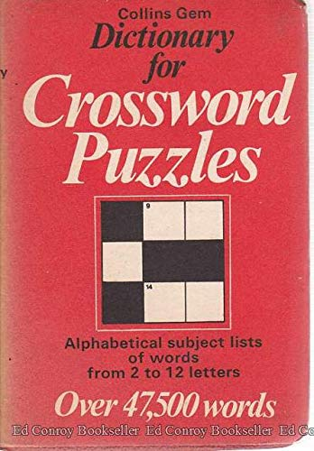 9780004587073: Dictionary for Crossword Puzzles
