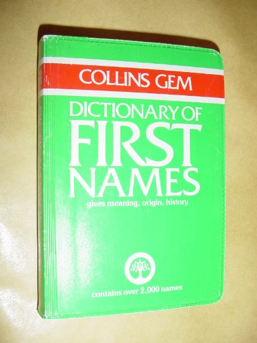 9780004587486: Dictionary of First Names (Gem Dictionaries)