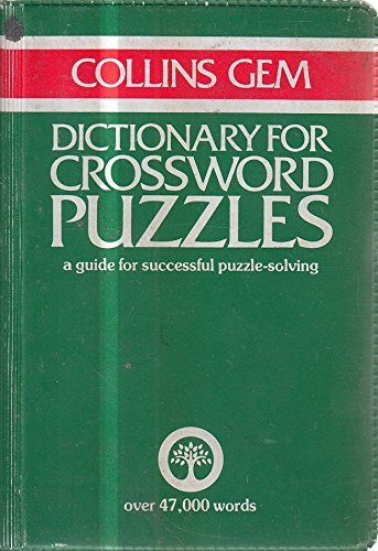 9780004587516: Dictionary for Crossword Puzzles (Gem Dictionaries)