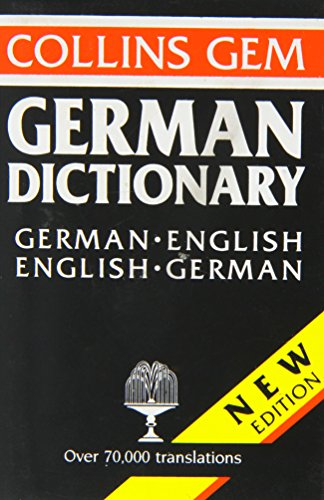 9780004589268: Collins Gem Dictionary, German-English English-German