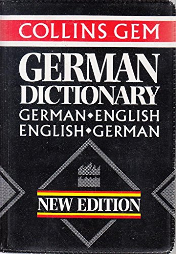 9780004589763: Collins Gem German Dictionary (Collins Gems)