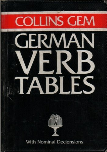 9780004593395: Collins Gem German Verb Tables (Collins Gems)