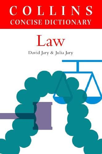 9780004700090: Collins Dictionary of Law