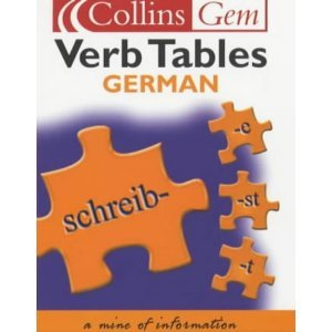 9780004702728: Collins Gem German Verb Tables (Collins Gems)