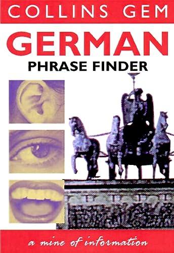 9780004702841: German Phrase Finder (Collins Gem Phrase Finder)