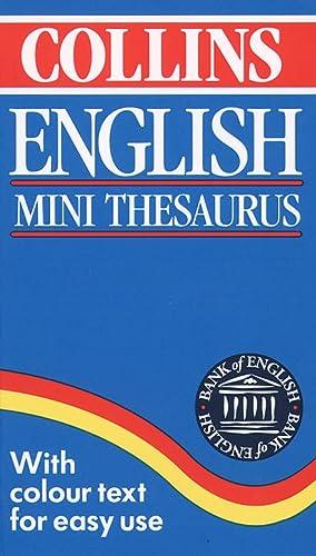 9780004702872: Collins English Mini Thesaurus