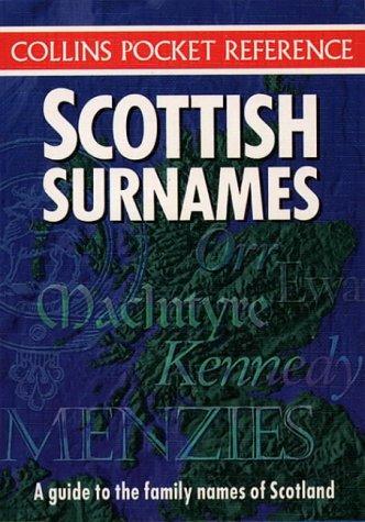 9780004704630: Scottish Surnames (Collins Pocket Reference)