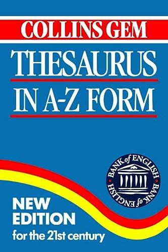 Collins Gem Thesaurus (Collins Gems): Collins