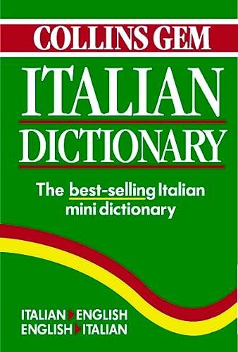 9780004707464: Collins Gem Italian Dictionary: Italian-English English-Italian
