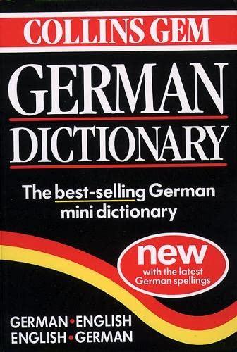 9780004707471: Collins Gem German Dictionary: German-English, English-German