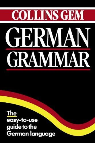 9780004710044: Collins Gem German Grammar (Collins Gems)