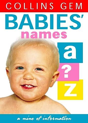 9780004722917: Babies' Names (Collins Gem)